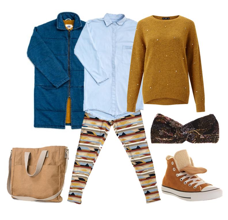 podšité legíny patternz outfit blog