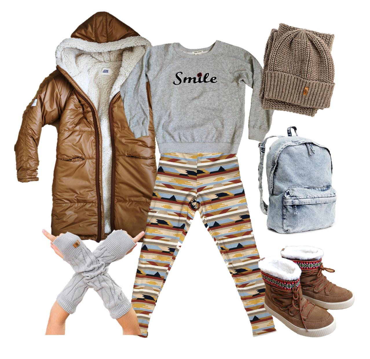 podšité legíny patternz blog outfit