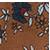 hnedá s kvetinovým vzorom